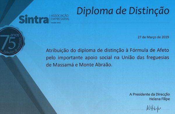 Fórmula de Afeto distinguida pela Associação Empresarial de Sintra